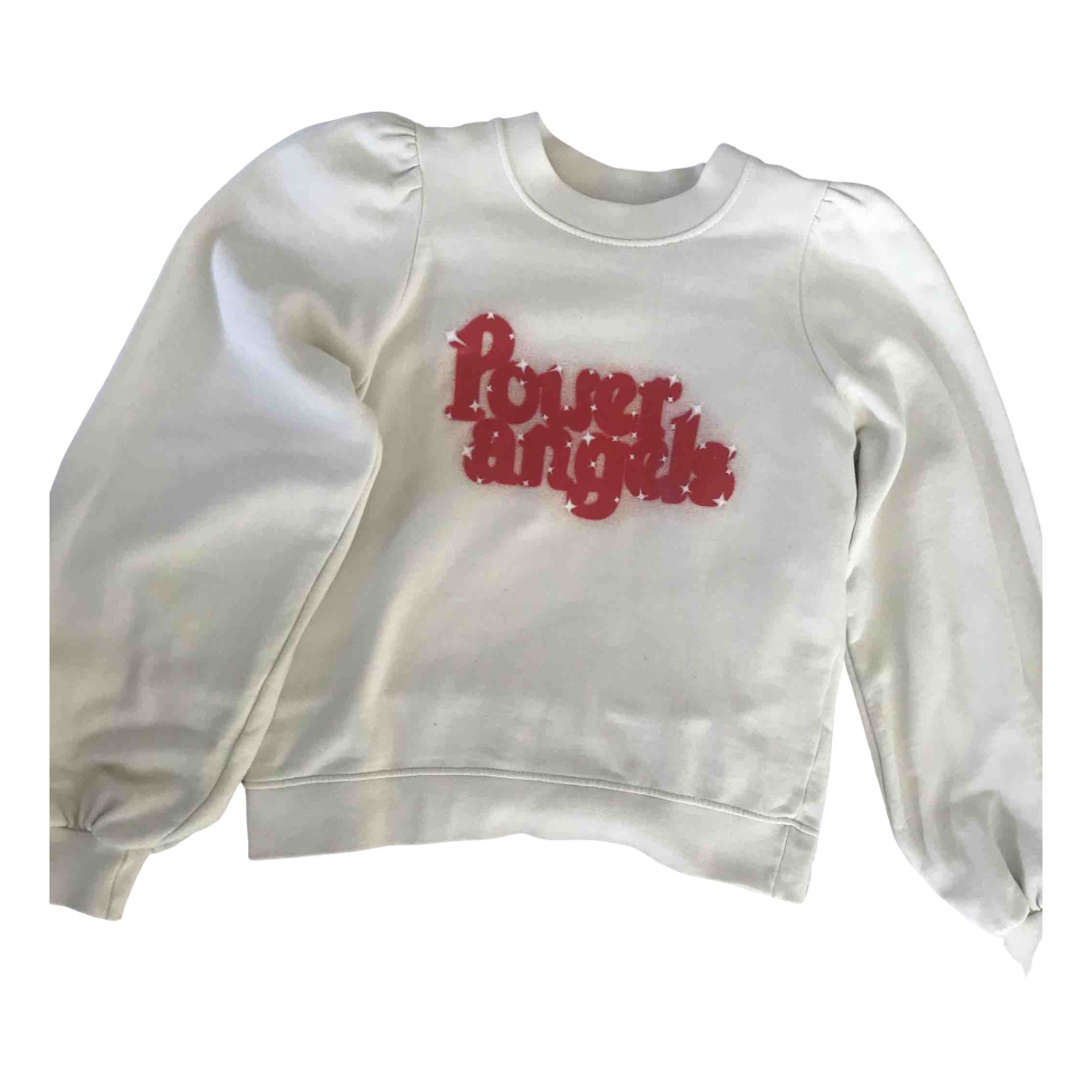 Ganni \N Pullover in  Ecru Baumwolle