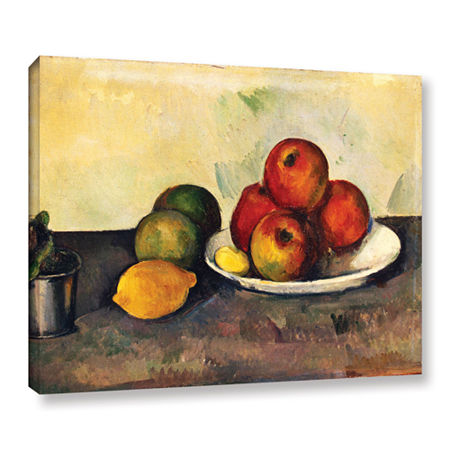 Brushstone Still Life with Apples Gallery Wrapped Canvas Wall Art, One Size , Red