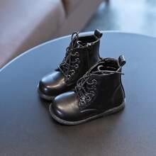 Kleinkind Jungen Kampfstiefel mit runder Zehenpartie