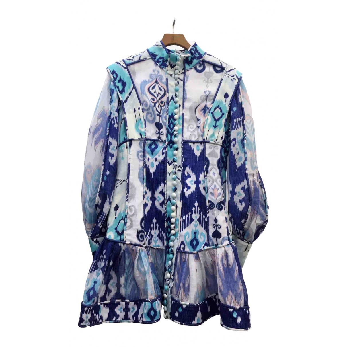 Zimmermann \N Multicolour Linen dress for Women 1 0-5