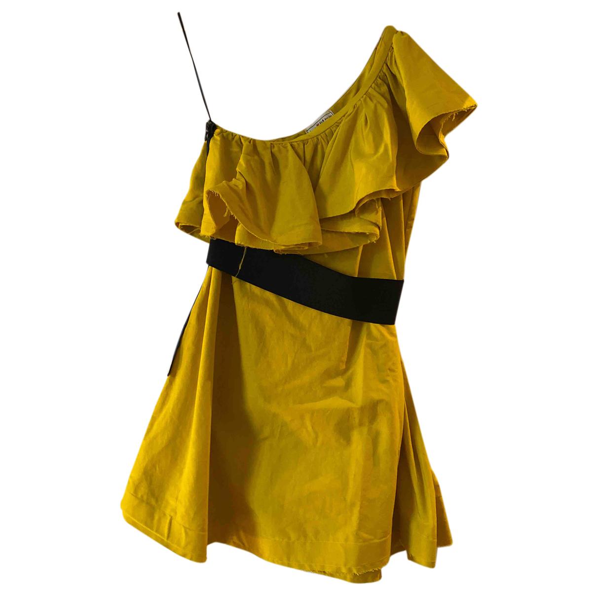 Lanvin For H&m - Robe   pour femme en coton - jaune