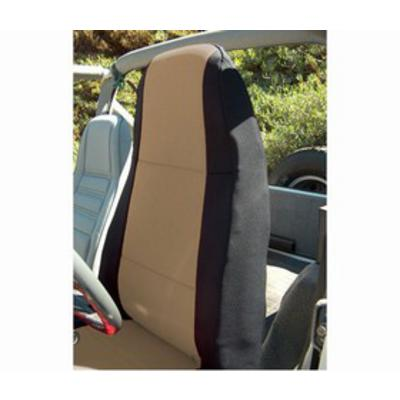 Coverking Neoprene Front Seat Covers (Black/Tan) - SPC151