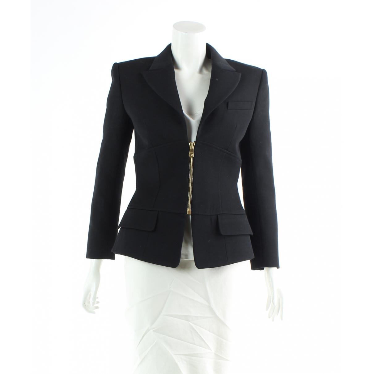 Balmain \N Black Wool jacket for Women 38 FR