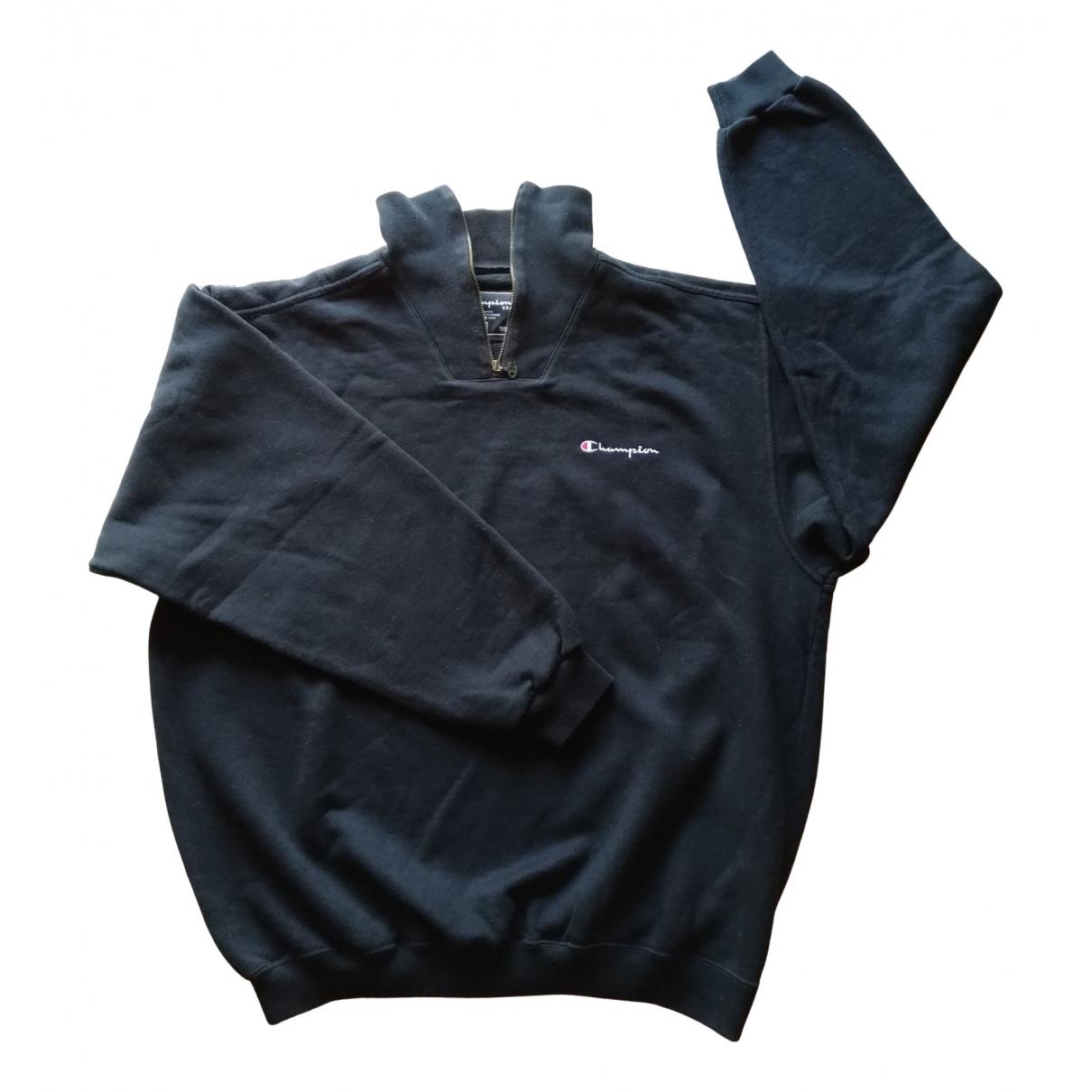 Champion - Pulls.Gilets.Sweats   pour homme en coton - noir
