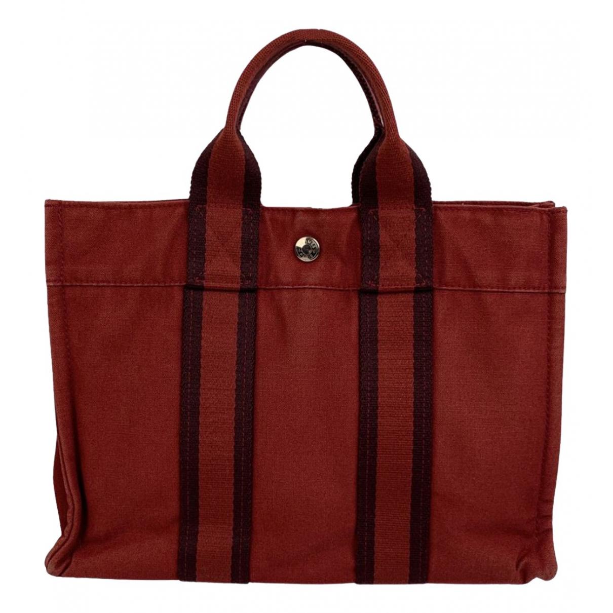 Hermès Toto Red Cloth handbag for Women \N
