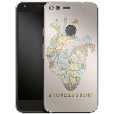 Google Pixel XL Silikon Handyhuelle - A Travelers Heart von Bianca Green