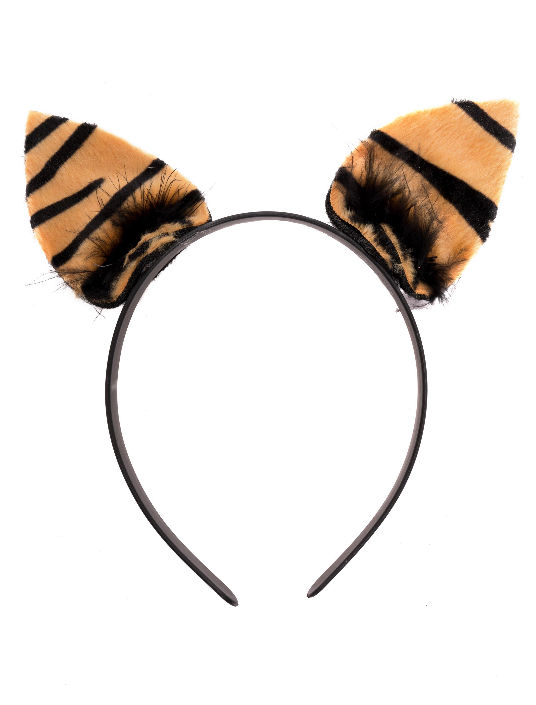 Kostuemzubehor Haarreif Tiger Farbe: schwarz/braun