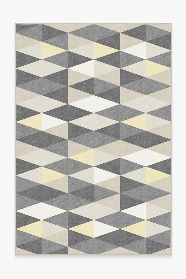 Washable Rug Cover & Pad | Tessera Yellow Rug | Stain-Resistant | Ruggable | 6'x9'