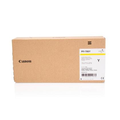 Canon PFI-706Y 6684B001AA cartouche d'encre originale jaune haute capacité