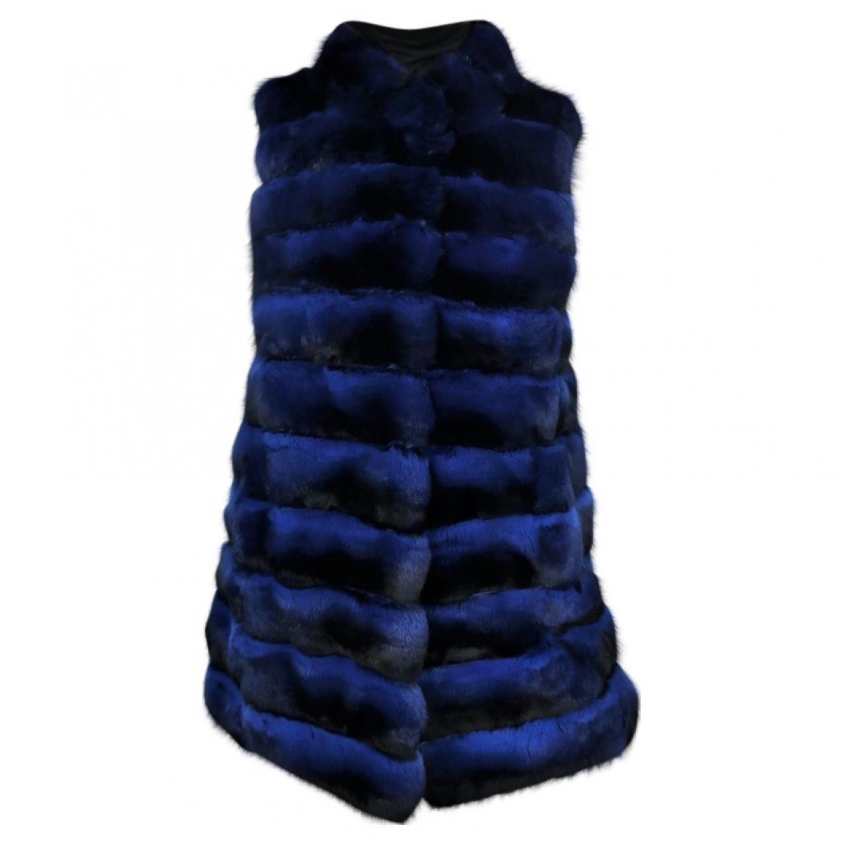 Kopenhagen Fur \N Blue Chinchilla coat for Women 38 FR