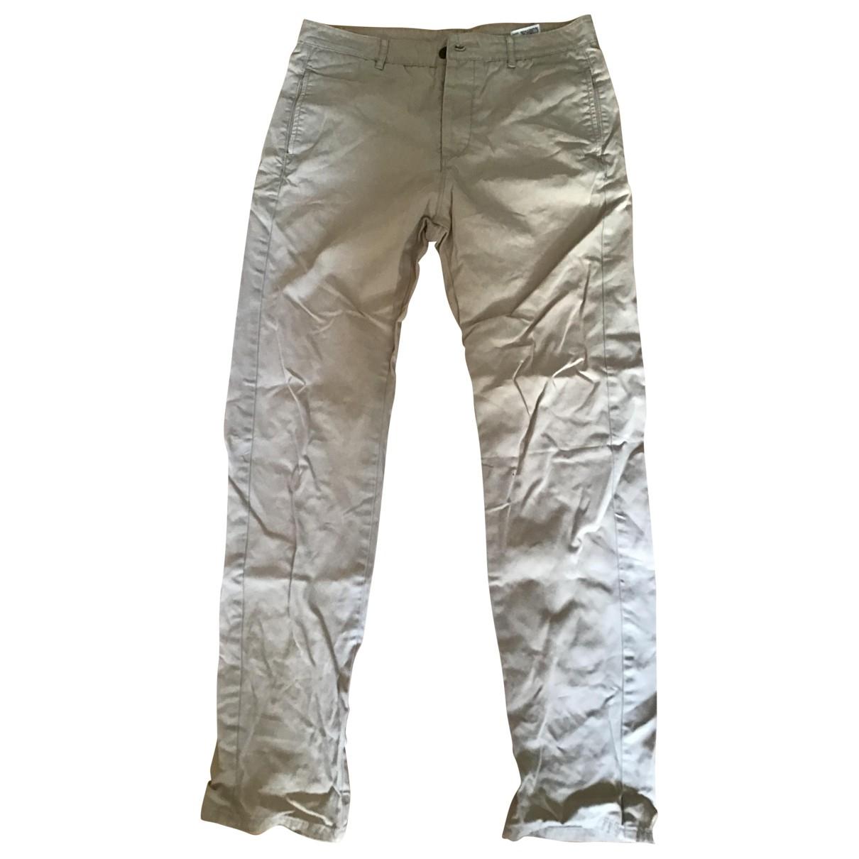 Levi's \N Beige Cotton Trousers for Women 27 US