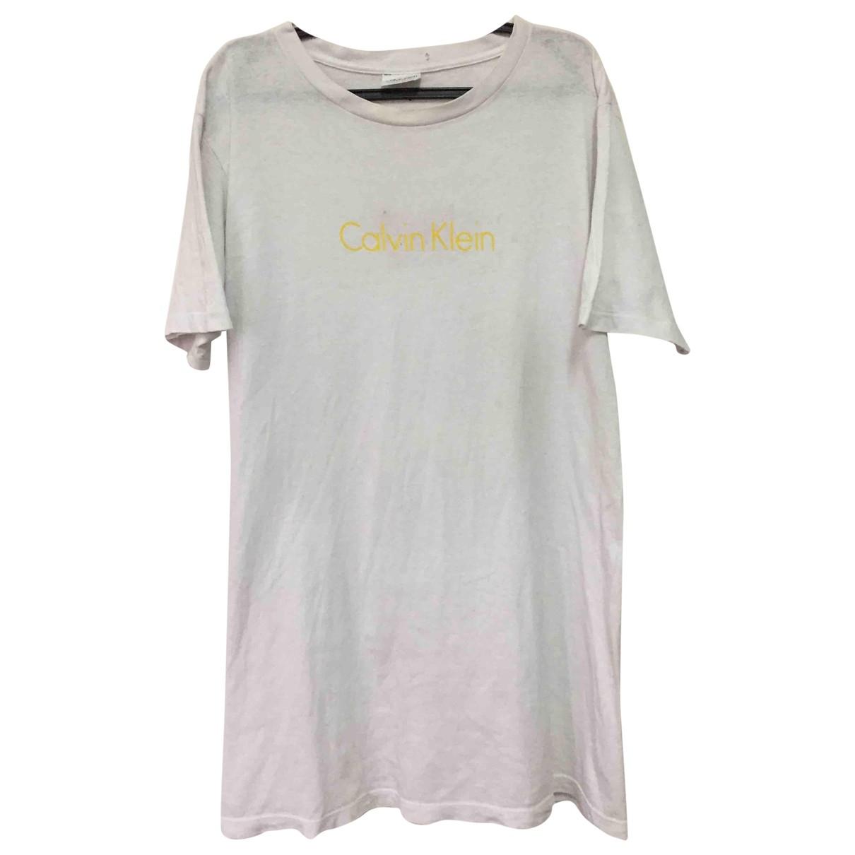 Calvin Klein - Tee shirts   pour homme en coton - blanc