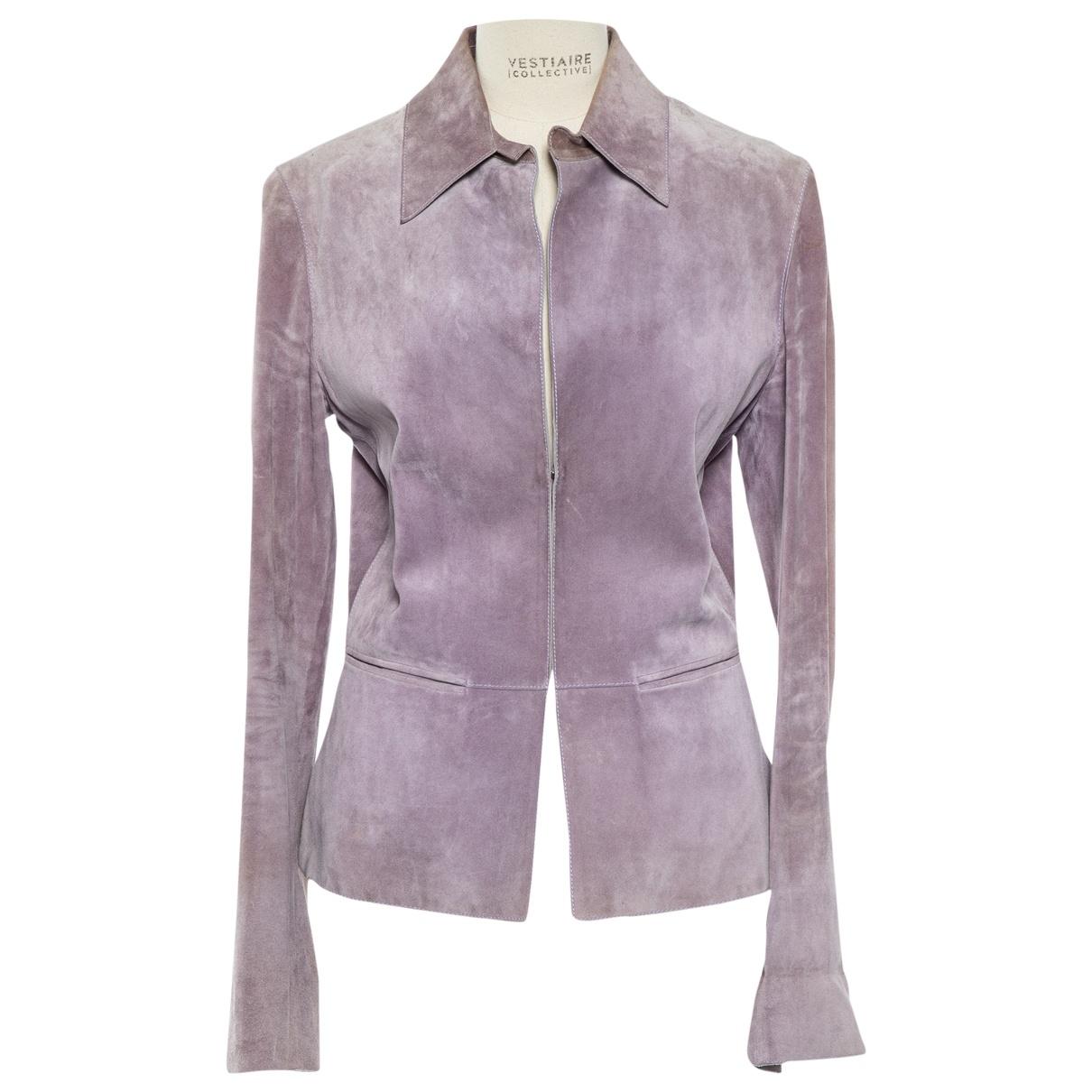 Gucci \N Purple Leather jacket for Women 42 IT