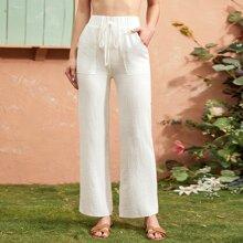 Hosen mit Tailleband und Tasche Flicken