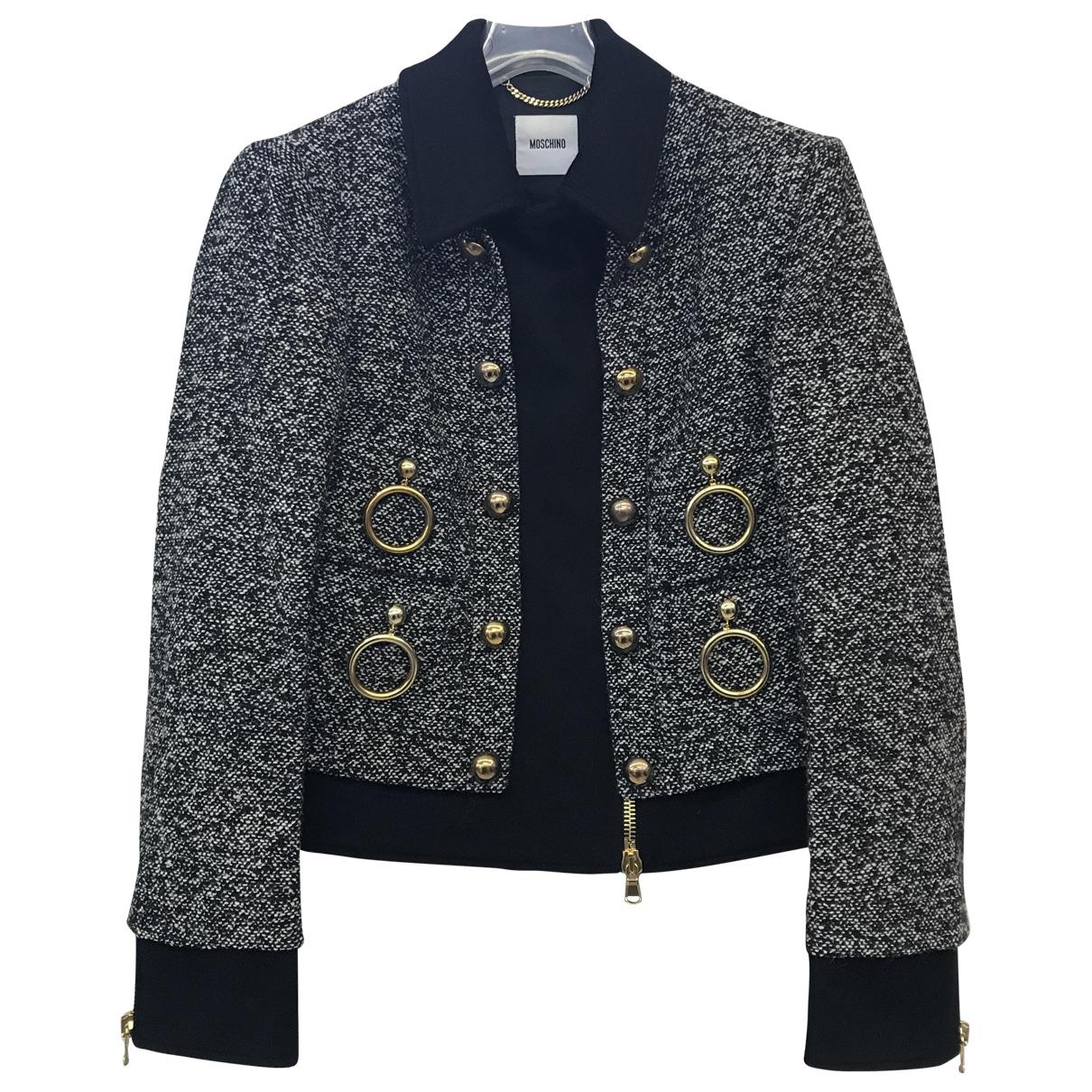 Moschino - Veste   pour femme en laine - multicolore