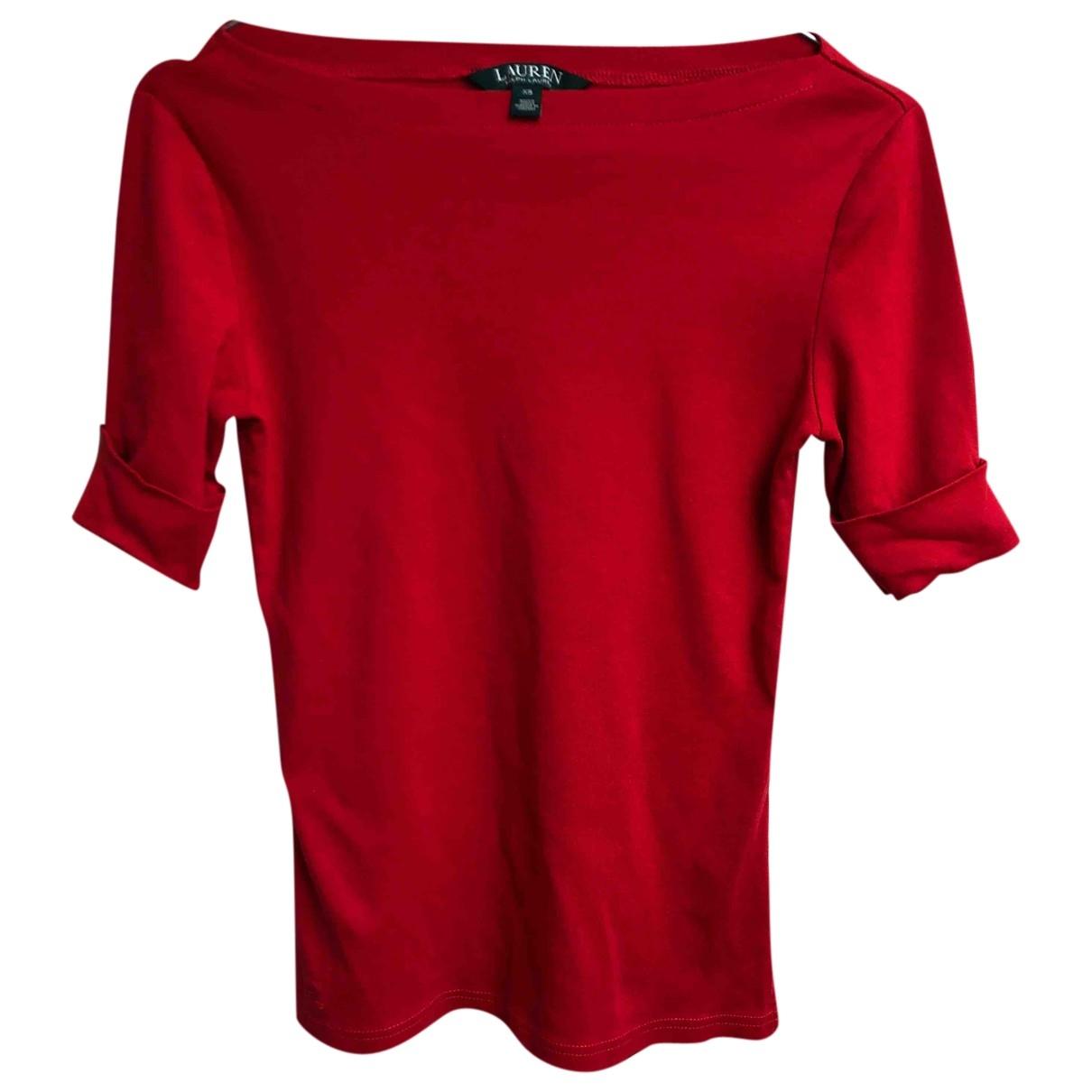 Lauren Ralph Lauren \N Top in  Rot Baumwolle