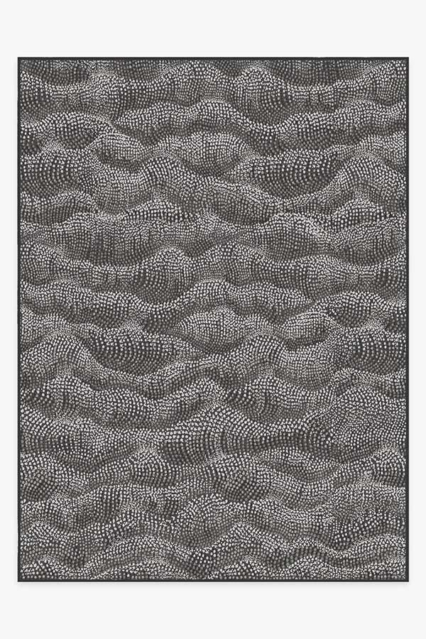 Washable Rug Cover & Pad | Sela Charcoal Rug | Stain-Resistant | Ruggable | 9'x12'