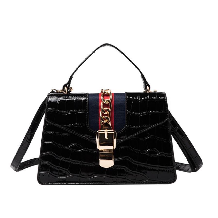 LW lovely Chic Patchwork Black Crossbody Bag