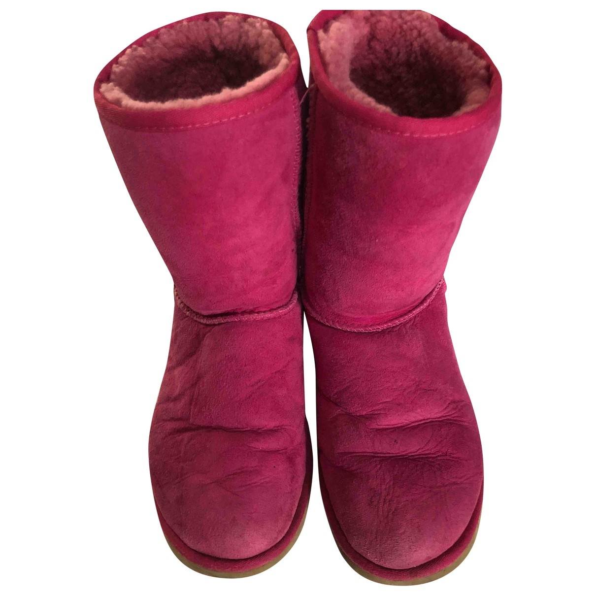 Ugg \N Pink Suede Boots for Women 40 EU