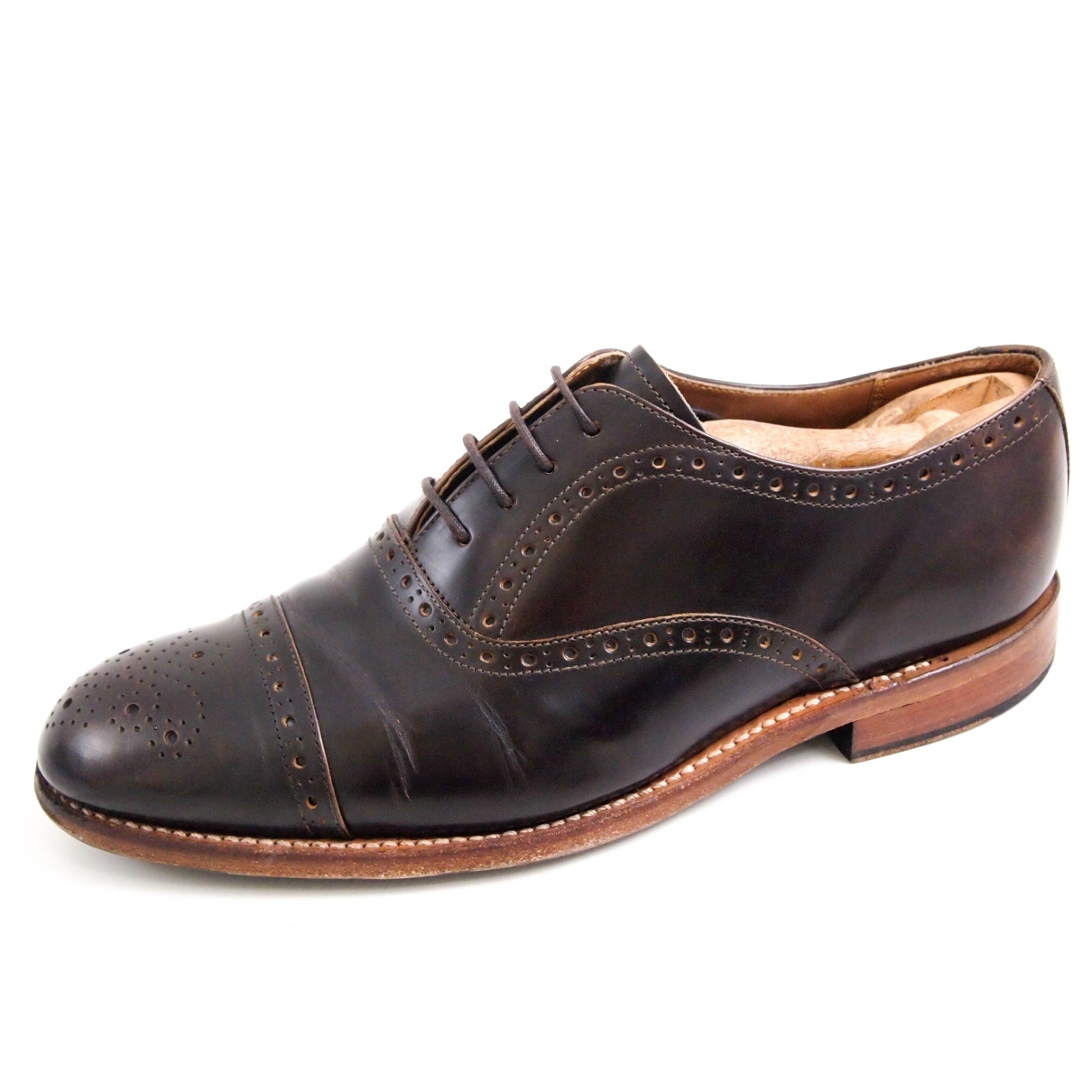 Grenson \N Brown Leather Lace ups for Men 40.5 EU