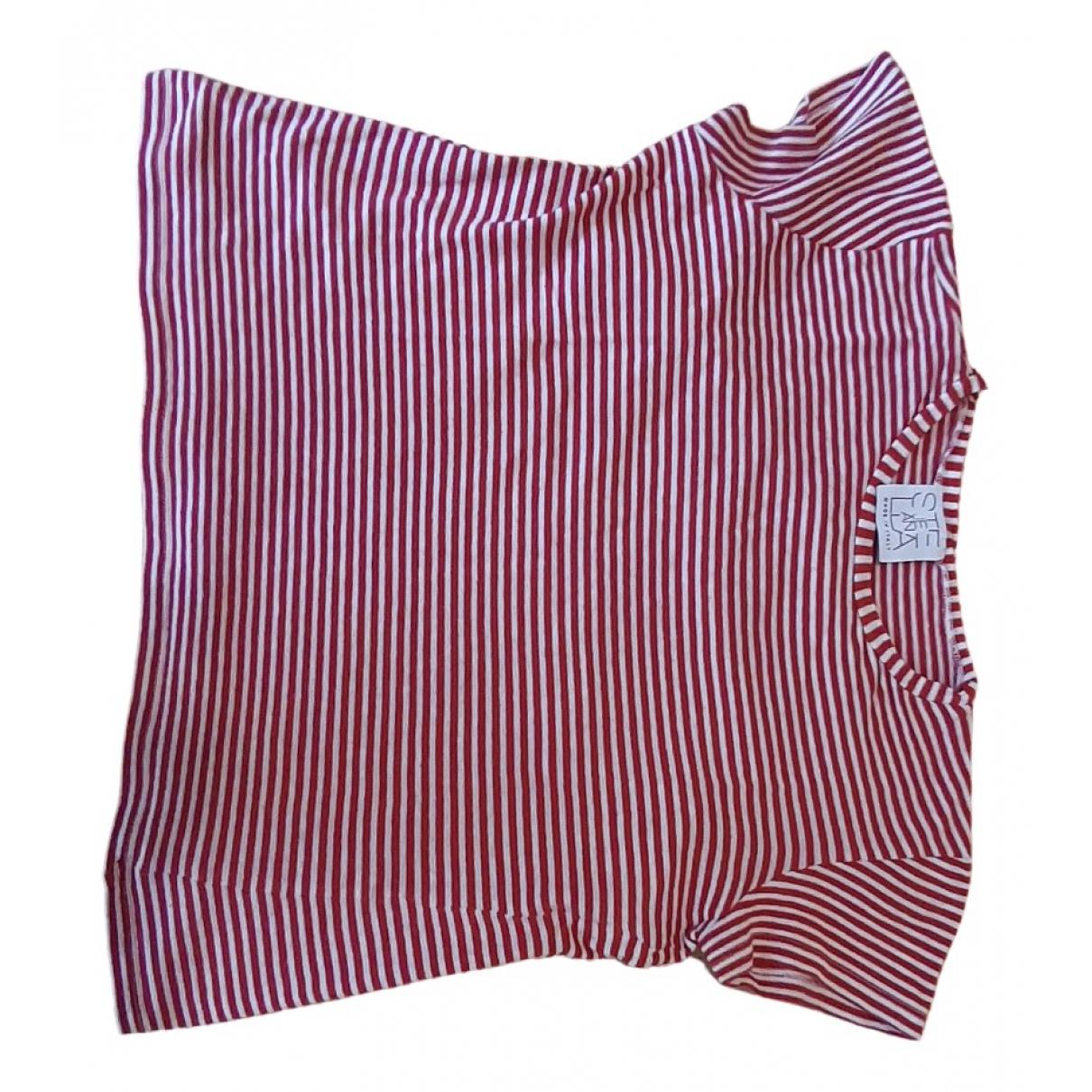 Stella Jean - Top   pour enfant en coton - rouge