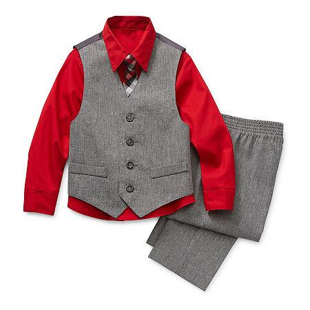 Van Heusen Baby Boys 4-pc. Suit Set, 18 Months , Red
