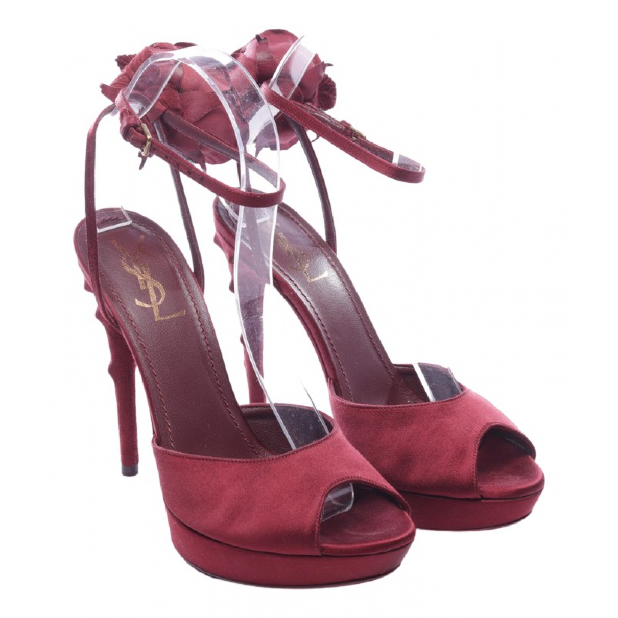 Yves Saint Laurent \N Sandalen in  Rot Leder