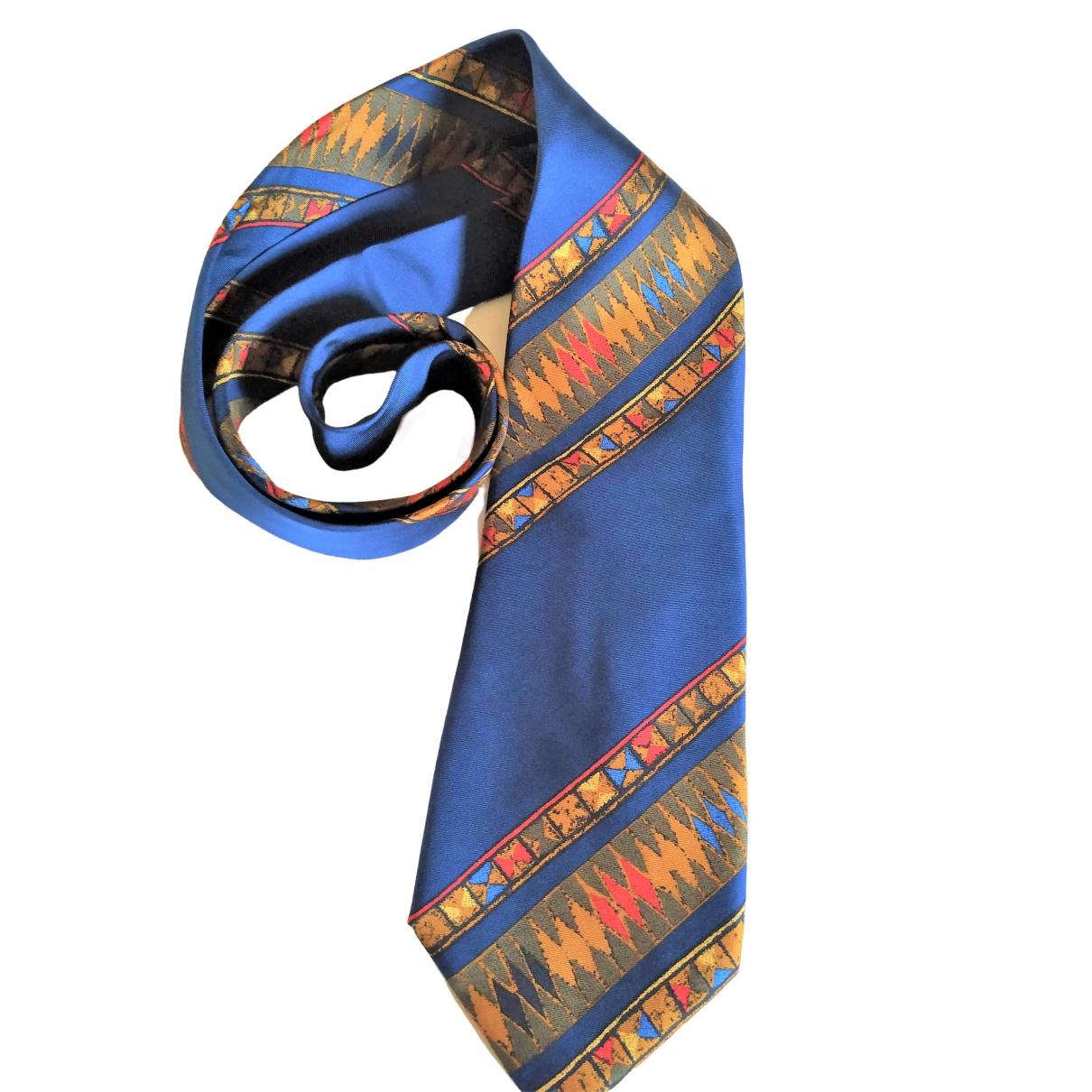 - Cravates   pour homme en soie - bleu