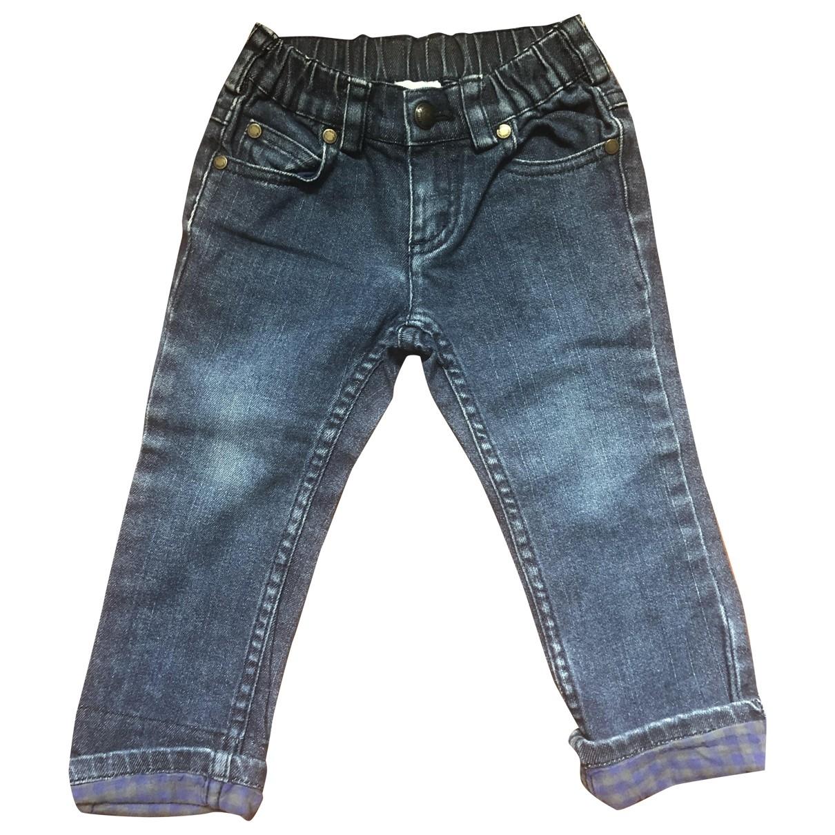 Jacadi - Pantalon   pour enfant en denim - bleu