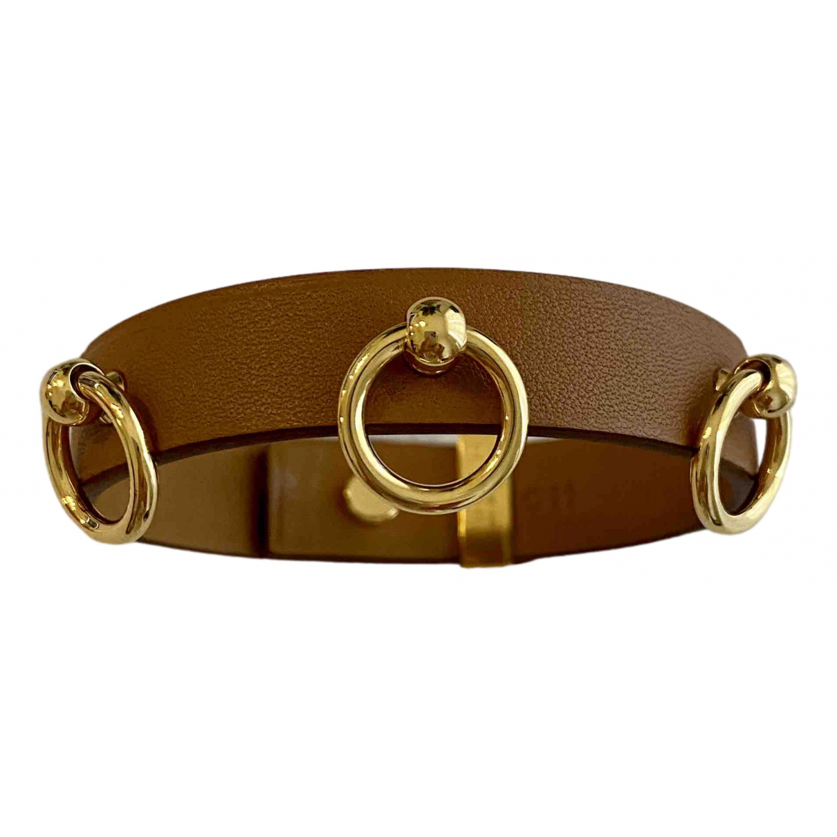 Hermes - Bracelet   pour femme en cuir - camel