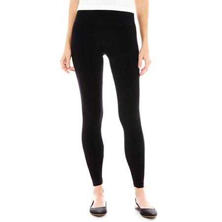 Mixit Seamless Tummy Control Leggings, Small , Black