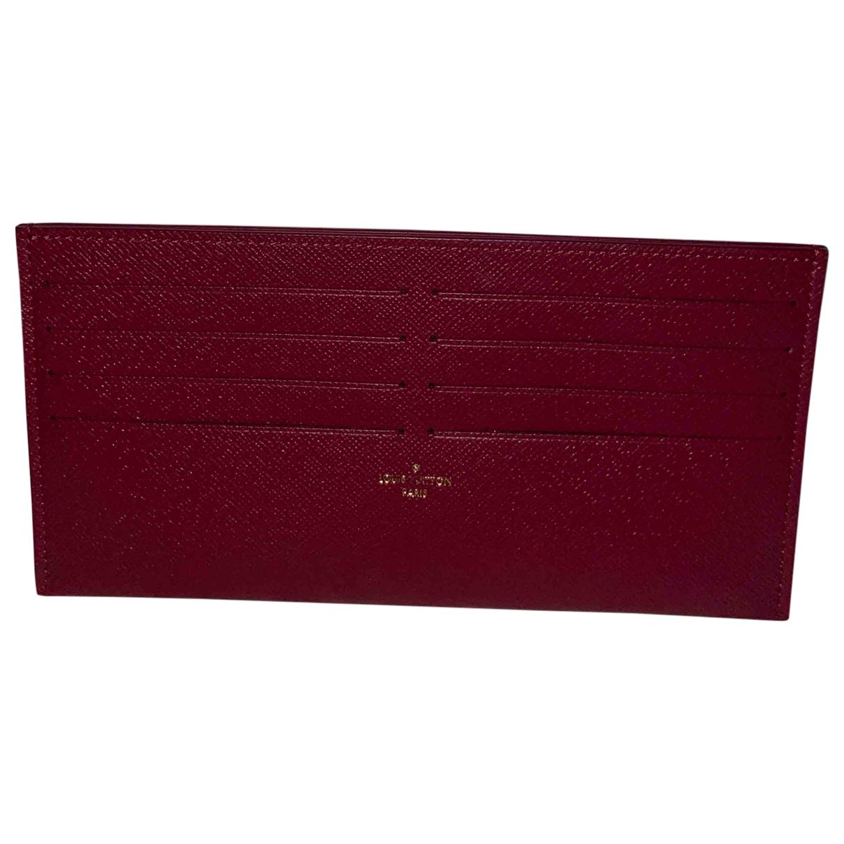 Louis Vuitton - Petite maroquinerie Jeanne pour femme en cuir - bordeaux