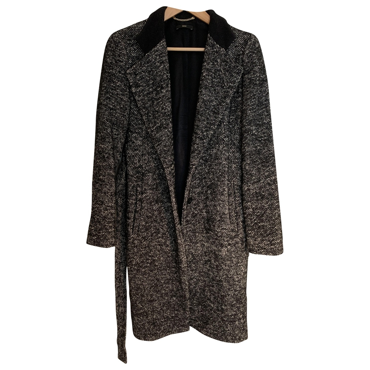 Hugo Boss \N Black Wool coat for Women 44 IT