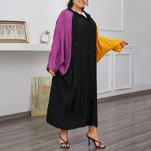 Abrigo con capucha con cordon de color combinado