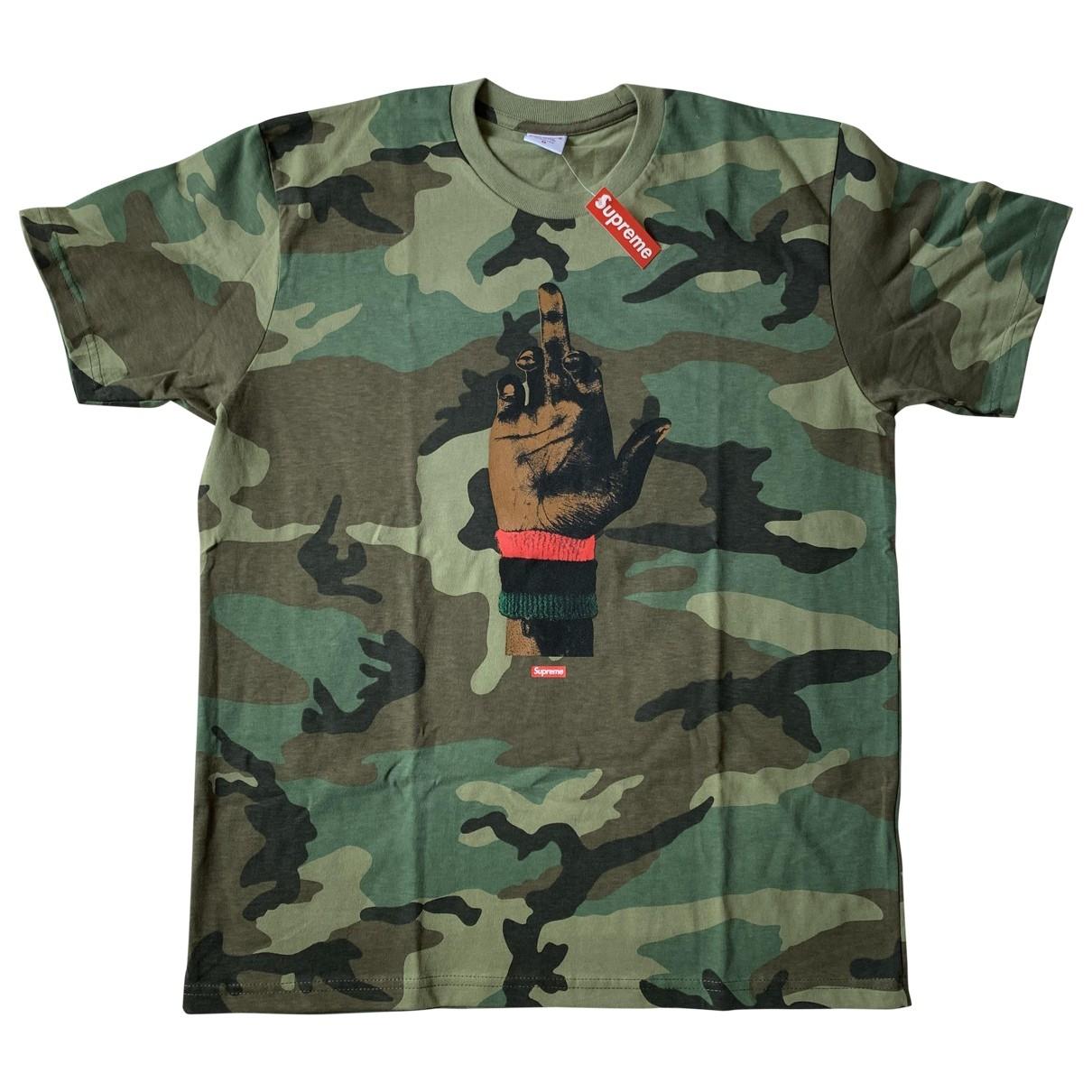Supreme \N T-Shirts in  Khaki Baumwolle