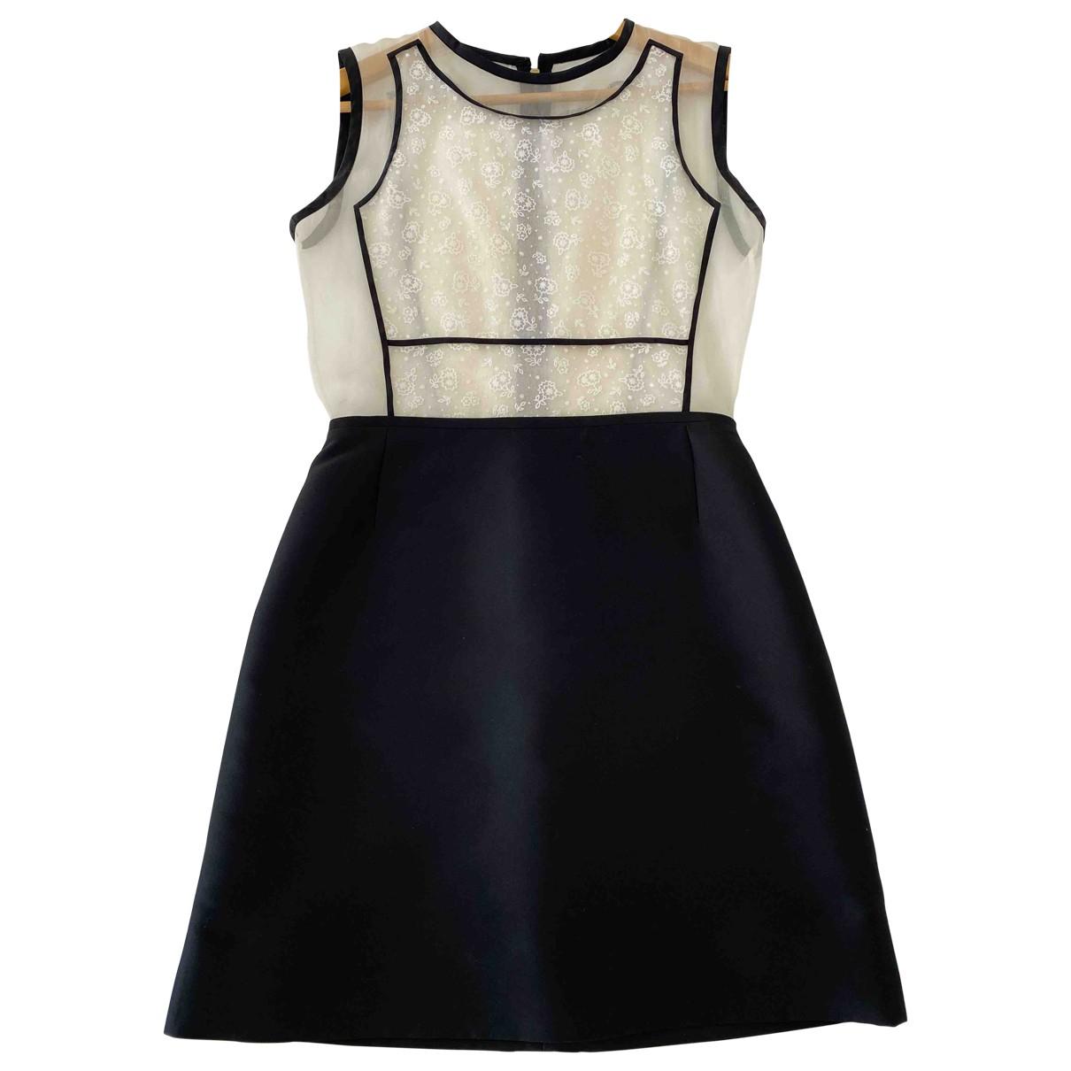 Victoria, Victoria Beckham - Robe   pour femme en soie - noir