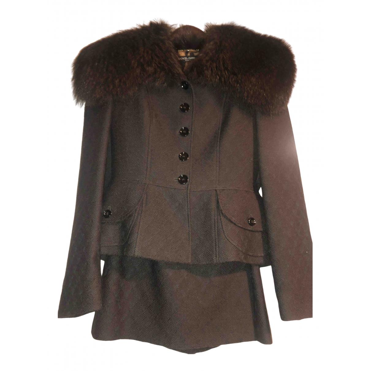 Dolce & Gabbana N Brown Wool jacket for Women 40 IT