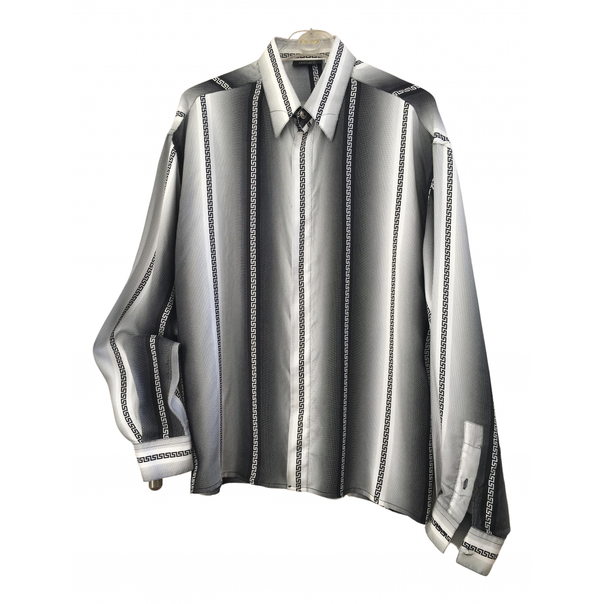 Versace N Black Silk Shirts for Men XL International