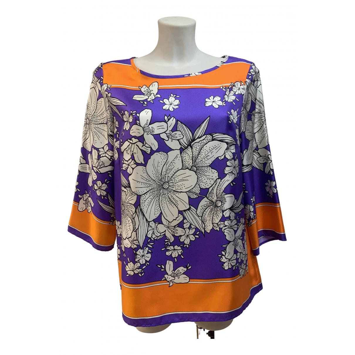 Parosh - Top   pour femme en soie - violet