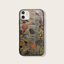 iPhone Schutzhuelle mit Karte Muster