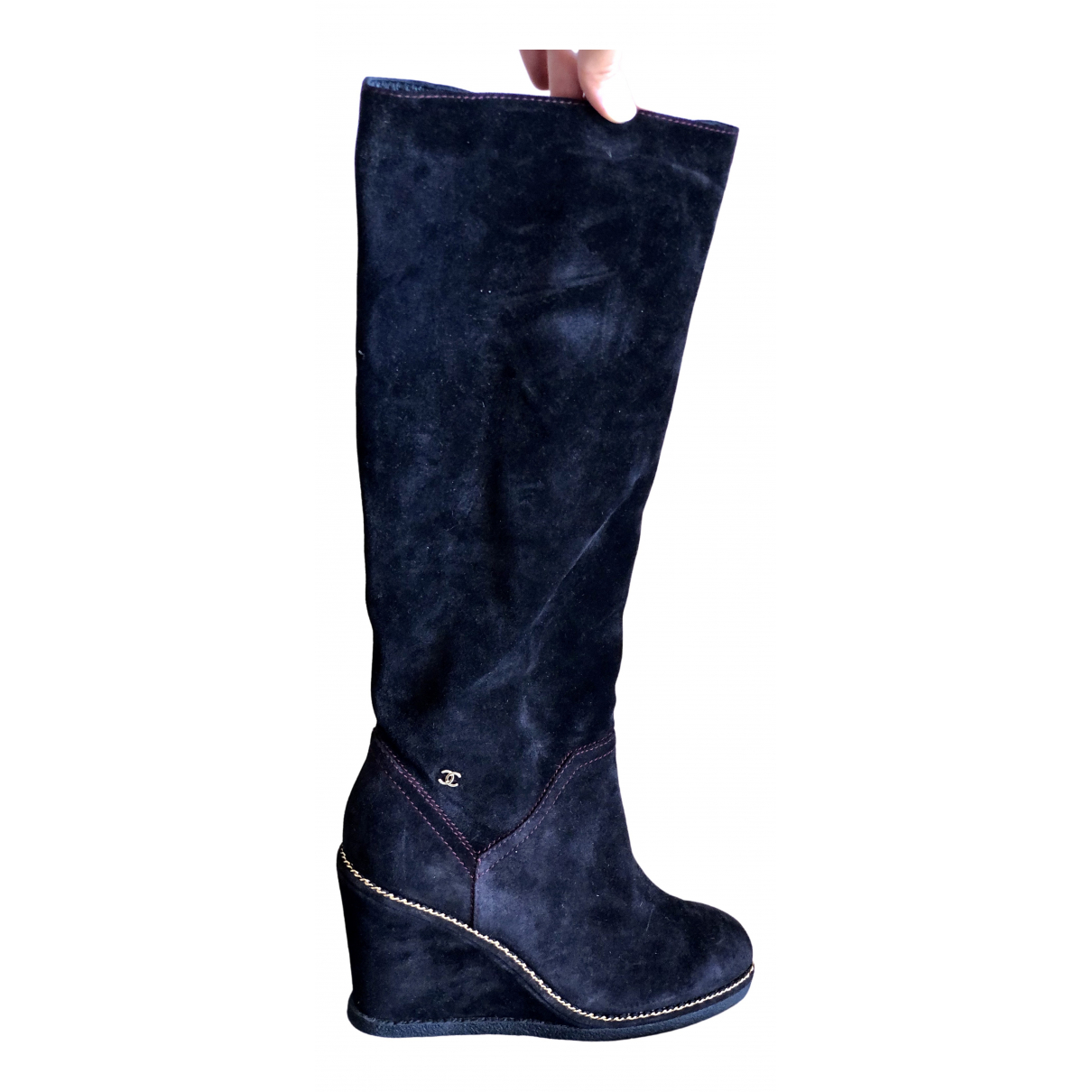 Chanel \N Black Suede Boots for Women 41 EU