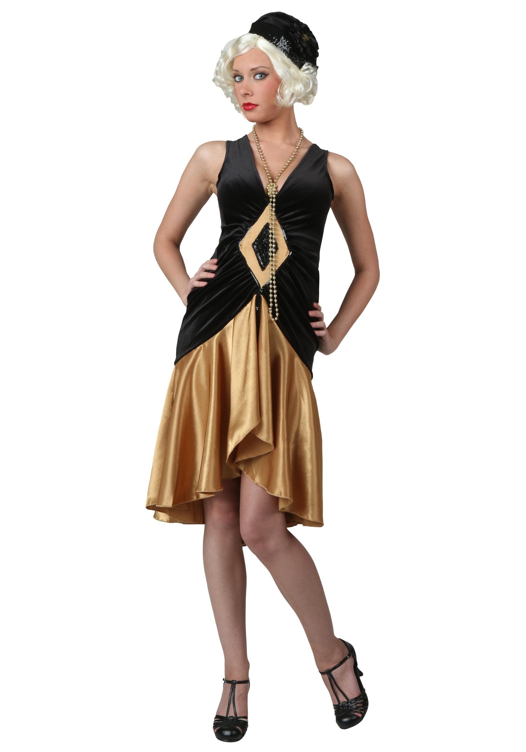 Velvet Diamond 1920's Flapper Costume for Women
