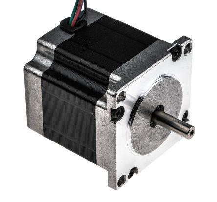 RS PRO Unipolar Hybrid, Permanent Magnet Stepper Motor 0.9°, 1.26Nm, 2.5 V, 2.8 A, 4 Wires