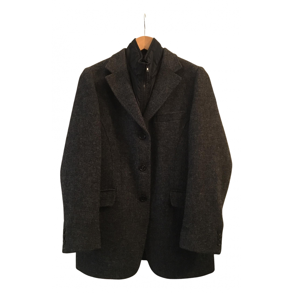 Fay N Anthracite Wool jacket for Women 42 IT