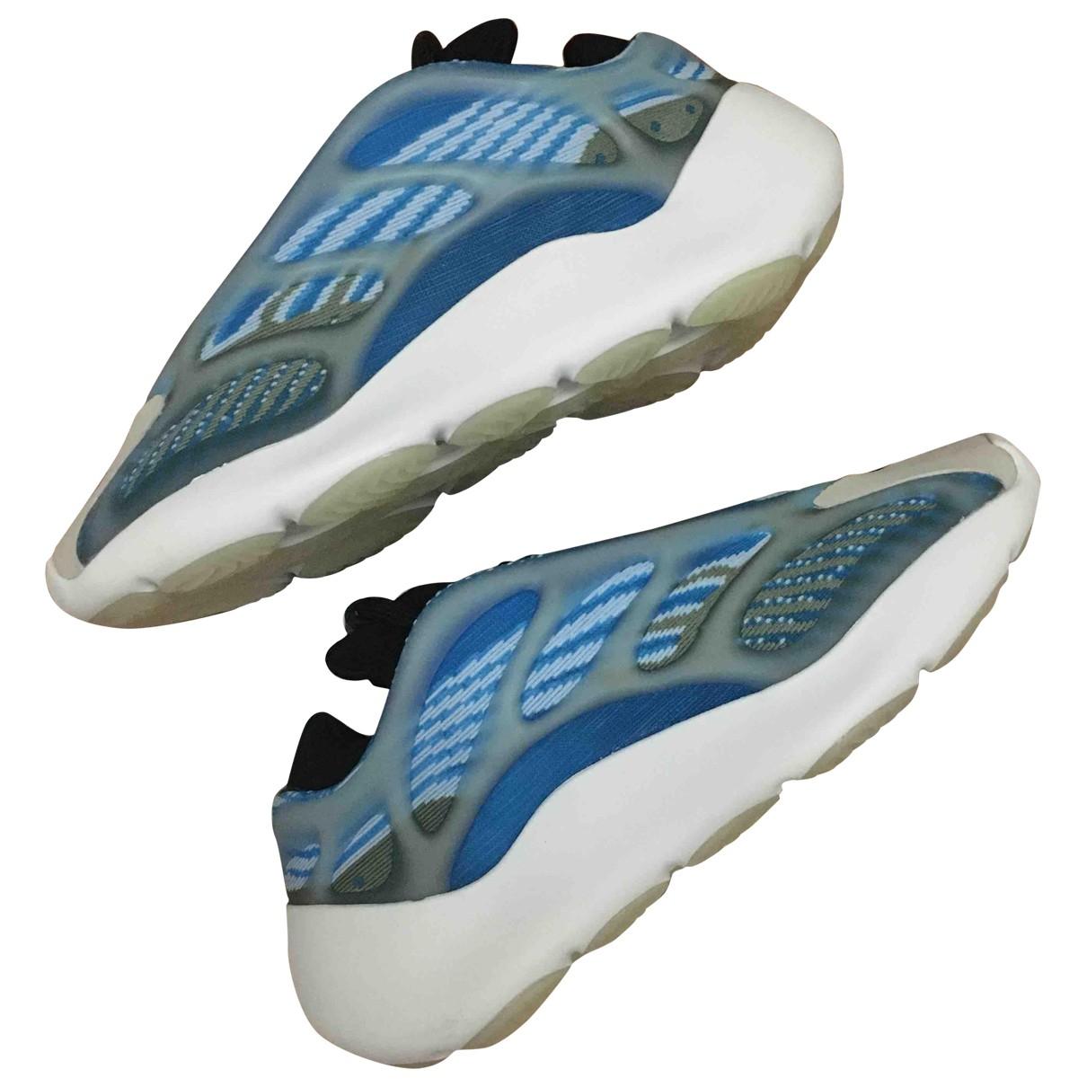 Yeezy X Adidas - Baskets Boost 700 V3 pour femme en suede - bleu