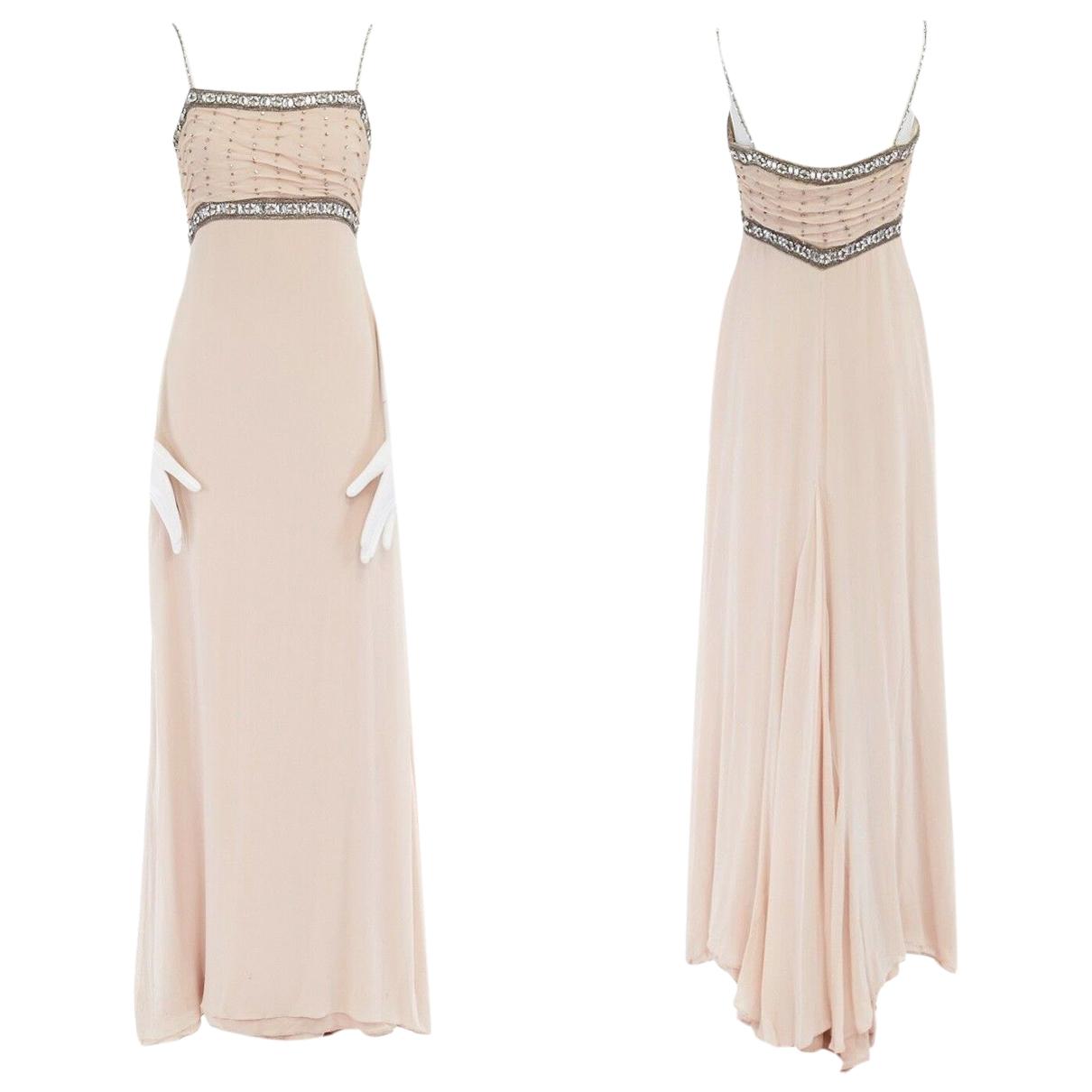 Collette Dinnigan \N Kleid in  Orange Seide