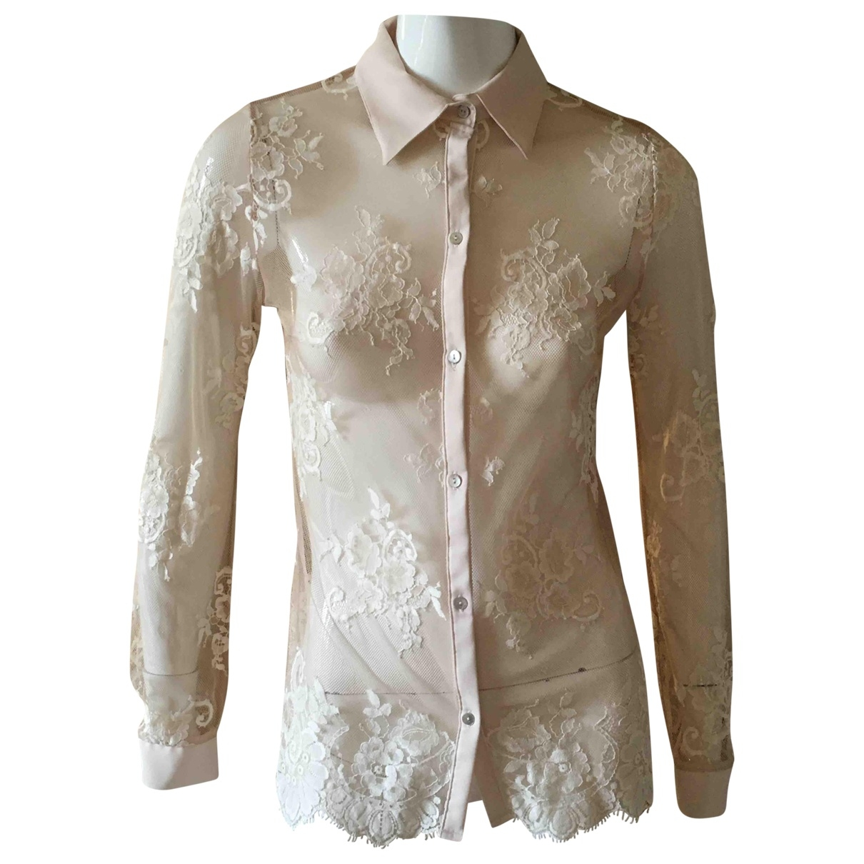 Non Signé / Unsigned \N Beige Lace  top for Women S International