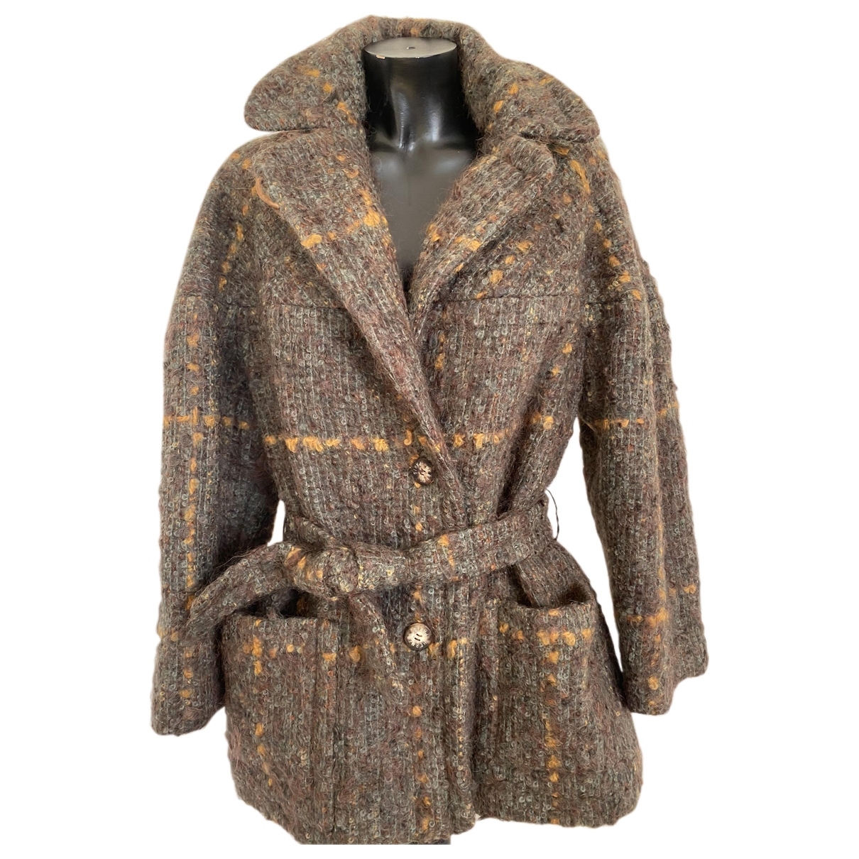 Hermes - Manteau   pour femme en laine - kaki