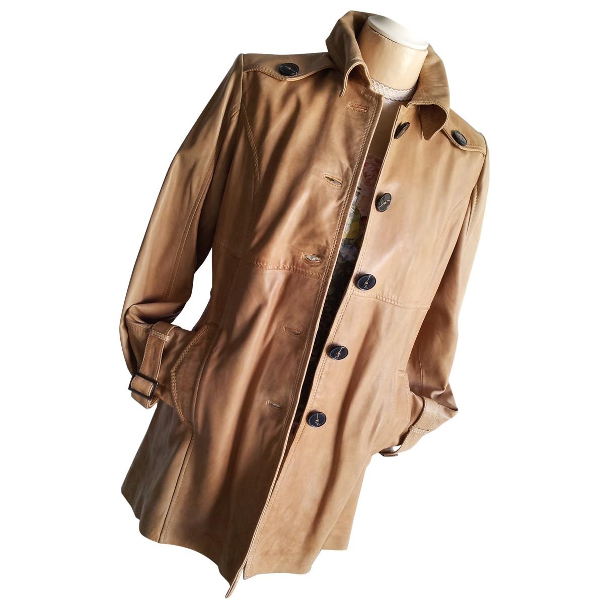 Oakwood - Manteau   pour femme en cuir - camel