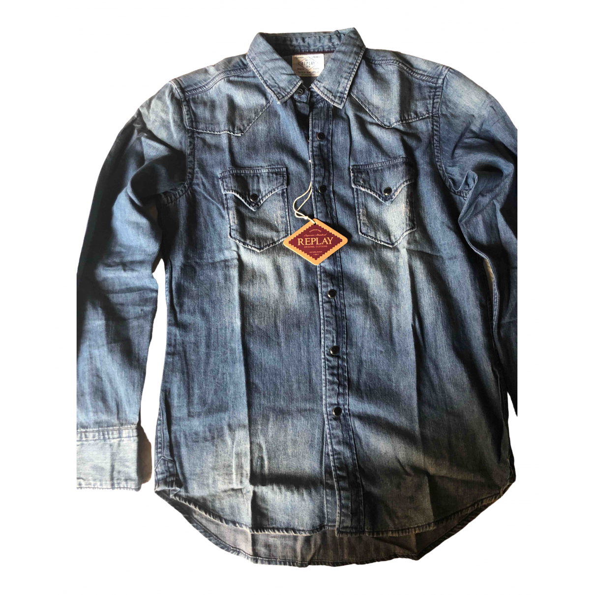 Replay N Blue Denim - Jeans Shirts for Men M International